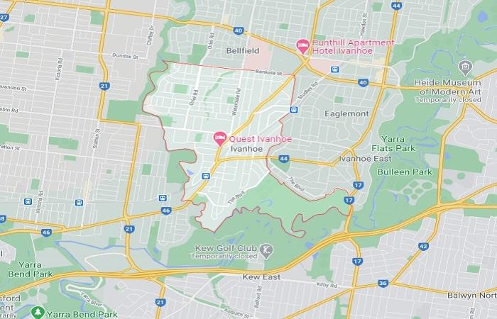 Ivanhoe Area Map